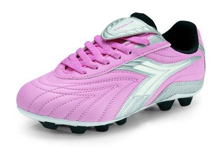 Kids Diadora Furia Md Jr Soccer Cleats Pink Charcoal